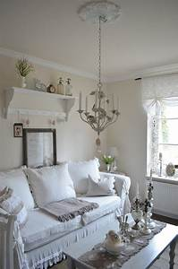 living room white grey black chippy shabby chic With decoration salon style romantique