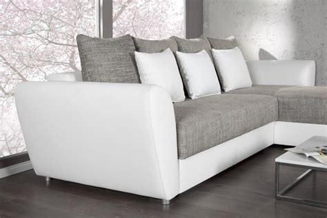 canape angle blanc et gris photos canapé d 39 angle convertible gris et blanc