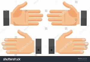 Vector Flat Hands Set Right Left Stock Vector 476461966 ...