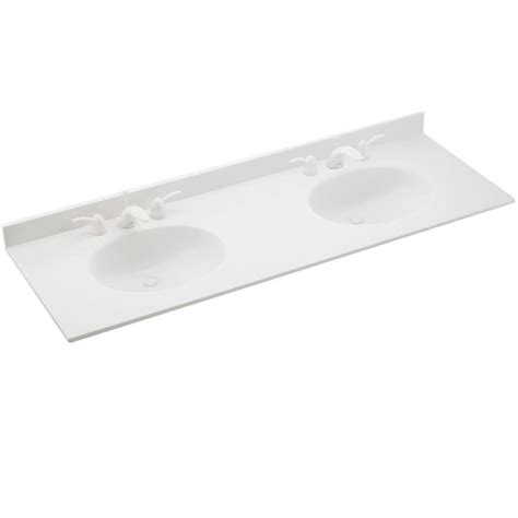 swan ellipse        solid surface double sink