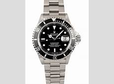 Rolex Submariner Black Dial Date Stainless Steel Mens