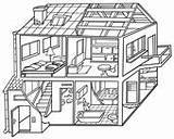 Clipart Attic Dwelling Fotosearch Drawings sketch template