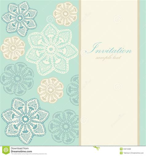 wedding birthday card  invitation  abstract lace