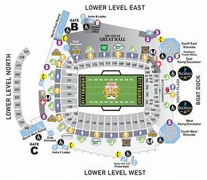 View The Heinz Field Seating Charts And Stadium Diagrams