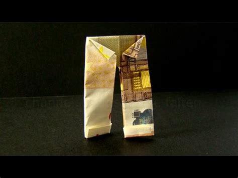geldscheine falten hose origami kleidung geld falten