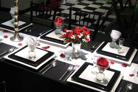 red and black table ls elegant dining room table setting simple table settings