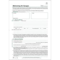 Mietvertrag Für Garagen 4 Seiten 10er Pack Format Din A4