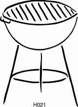 Bbq Grill Silhouette Getdrawings Arts Brush sketch template