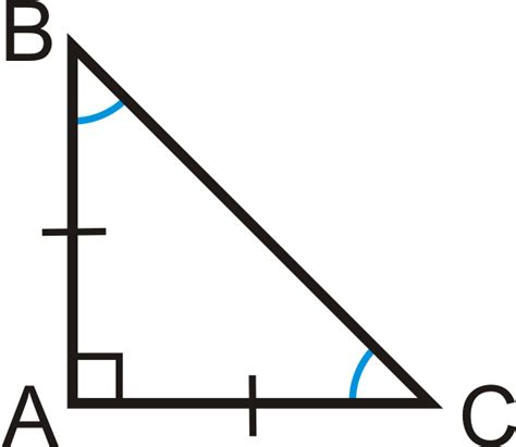 A Right Triangle With Congruent Legs And Acute Angles Is An Isosceles Right Triangle This