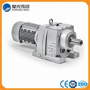 China Rf87 Helical Geared Motor With Output Flange
