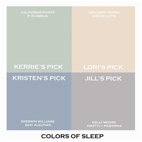 colors for sleep the gallery for gt sherwin williams