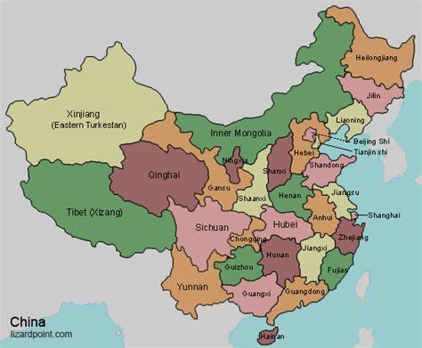 map  china provinces  chinese