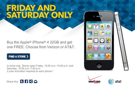 verizon buy one get one free iphone best buy once again offering buy one get one free