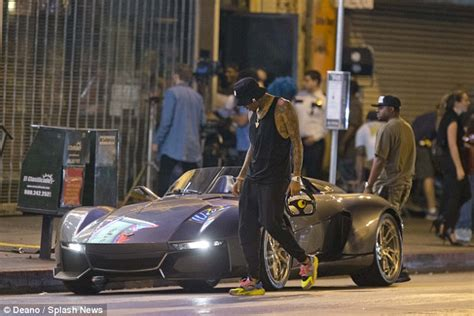 chris brown shows   rezvani beast sports car