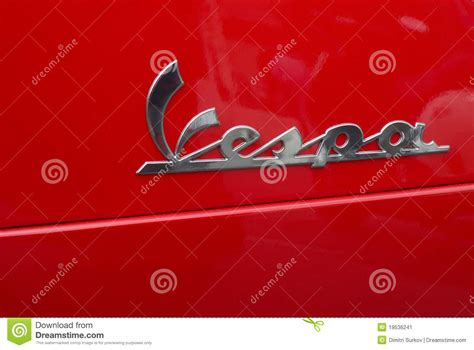 Vespa Italian Scooter Logo Editorial Photo
