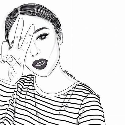 Outline Instagram Drawing Outlines Drawings Alexaspizza Coloring