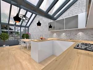 extension sous verriere maison quartier mouzaia agence avous With extension maison en l 19 cuisine style industriel