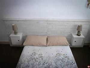 Lit Maison Bois : tete de lit en palette de bois maison design ~ Premium-room.com Idées de Décoration