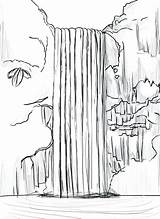 Waterfall Coloring Printable Drawing Dessin Drawings Cascade Sketch Nature Easy Landscape Colouring Waterfalls Onlycoloringpages Dessins Faciles Bestcoloringpagesforkids Sketches Pen Toddler sketch template