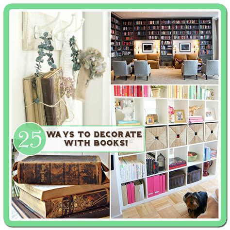 home decor book 25 ways to decorate with books free bookplate printable