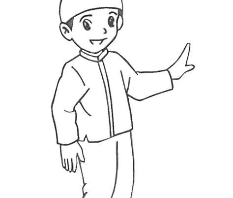kekinian 13 mewarnai gambar anak laki dan perempuan muslim