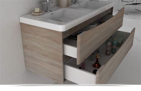 mobili con lavabo mobile bagno cm 120 con doppio lavabo color rovere