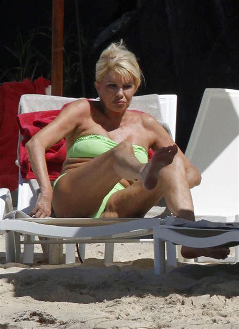 trump ivana bikini age shows beach zimbio