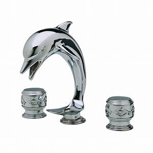 Altmans dolphin complete widespread lavatory set atg stores for Dolphin faucets bathroom