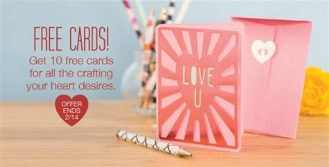 freebie   cricut valentines day cards stamping