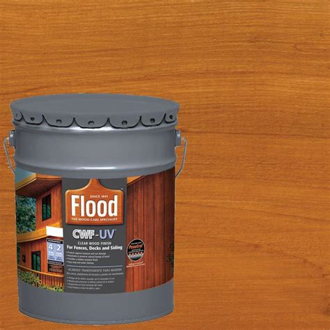 flood 5 gal cedar tone cwf uv based exterior wood finish fld520 05 the home depot