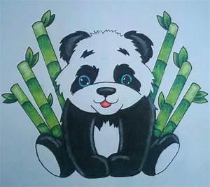 Drawn bear baby panda - Pencil and in color drawn bear ...