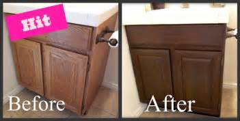 Updating Old Kitchen Cabinets by Honey I M Home Blog In Review Refinishing Oak Cabinet