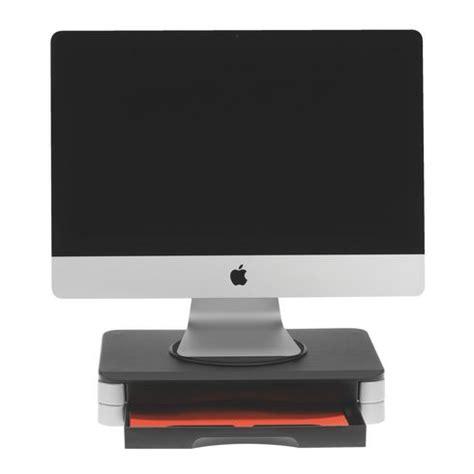 rehausseur ordinateur bureau support écran design 2 tiroirs maxiburo