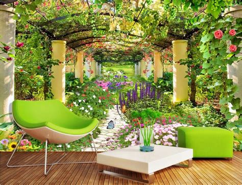 Garden Wall Murals Promotion-shop For Promotional Garden