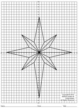 star  bethlehem christmas coordinate drawing