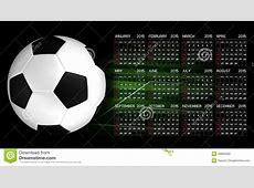 Calendar 2015 Soccer stock illustration Illustration of