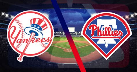 yankees york phillies philadelphia mlb logos baseball betting field july