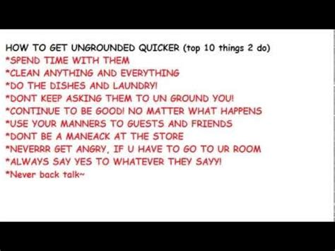 how to get how to get ungrounded sooner