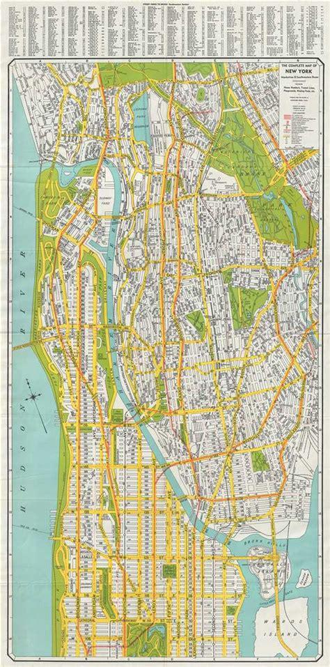 complete map   york manhattan  southwestern