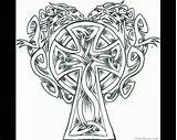 Coloring Celtic Cross Pages Printable Drawing Crosses Adults Knot Mandala Designs Adult Tattoo Getdrawings Line Sheets Irish Soldiers Dragon Knots sketch template