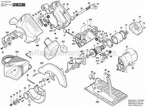Bosch 1664 parts list and diagram 060166c366 for Circular saw diagram