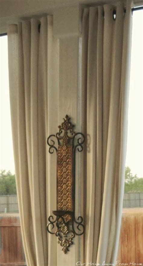 no sew outdoor drop cloth curtains with grommets pull