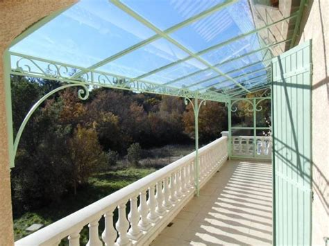 pergola avec toit en verre feuillet 233 sur mesure 224 maximin ferronnier var 83