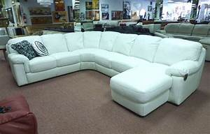 White leather sectional for elegant room s3net for Used leather sectional sofa for sale