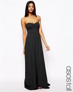 robe bustier longue noire pour ete la robe longue With robe longue noire été