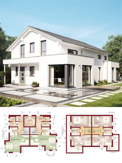 Zweifamilienhaus Modern Mit Satteldach Architektur Haus