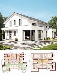Haus Bauen Ideen Grundriss : zweifamilienhaus modern mit satteldach architektur haus ~ Orissabook.com Haus und Dekorationen
