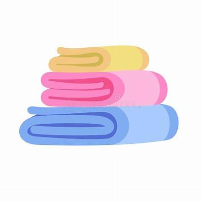Towel Stack Icon Flat Clean