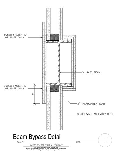 USG Design Studio | 09 21 16.23.319 Shaft Wall Beam Bypass