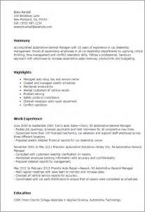 automotive repair resume templates professional automotive general manager templates to